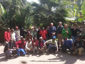The team back in Arusha after a successful summit with some happy but tired climbers