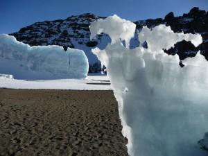 Melting Ice at the summit