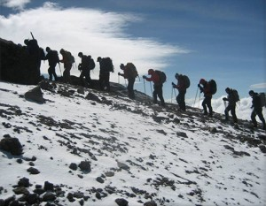Heading towards the summit